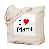 Cute I heart marnie Tote Bag
