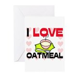 I Love Oatmeal Greeting Cards (Pk of 10)