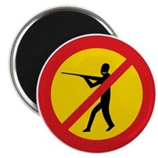 "No Hunting, Iceland 2.25"" Magnet (10 pack)"