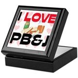 I Love Pb&J Keepsake Box