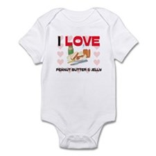 I Love Peanut Butter & Jelly Infant Bodysuit