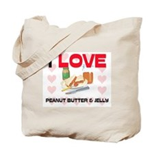 I Love Peanut Butter & Jelly Tote Bag