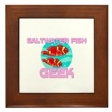 Saltwater Fish Geek Framed Tile