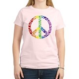 Rainbow Hearts Peace T-Shirt