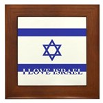 I love Israel : Framed Tile