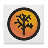 Amber Tree Tile Coaster