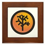 Amber Tree Framed Tile