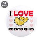 "I Love Potato Chips 3.5"" Button (10 pack)"