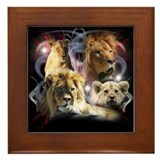 African King Framed Tile