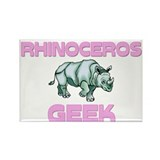Rhinoceros Geek Rectangle Magnet