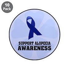 "Alopecia Awareness 3.5"" Button (10 pack)"