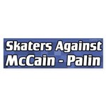 Skaters Against McCain - Palin bumper sticker