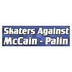 Skaters Against McCain - Palin bumper sticker