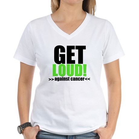 GetLoudAgainstCancer Women's V-Neck T-Shirt