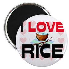 I Love Rice Magnet