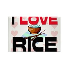 I Love Rice Rectangle Magnet