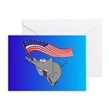 Republican Elephant Greeting Card
