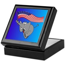 Republican Elephant Keepsake Box