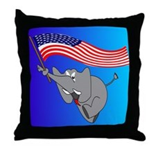 Republican Elephant Throw Pillow