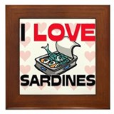 I Love Sardines Framed Tile