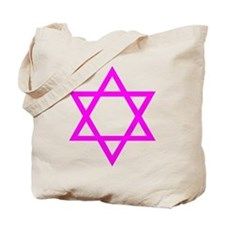 Magenta Star of David Tote Bag