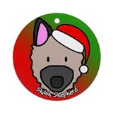 Cartoon Shiloh Shepherd Christmas Ornament