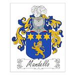 Mandello Family Crest Small Poster