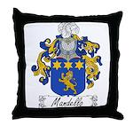 Mandello Family Crest Throw Pillow