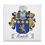 Mandello Family Crest Tile Coaster