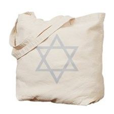 Silver Star of David Tote Bag