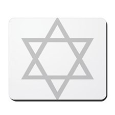 Silver Star of David Mousepad
