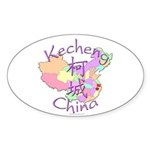 Kecheng China Oval Sticker (10 pk)