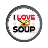 I Love Soup Wall Clock