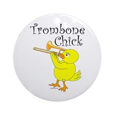 Trombone Chick Ornament (Round)