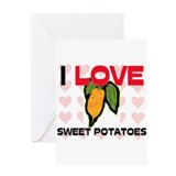 I Love Sweet Potatoes Greeting Card