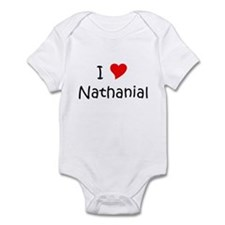 Cute Heart nathanial Infant Bodysuit