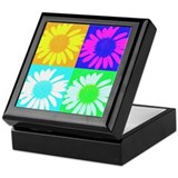 Multi-Color Daisies Keepsake Box
