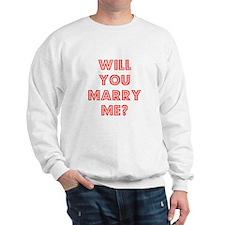 Retro - Will you marry me? Sweatshirt