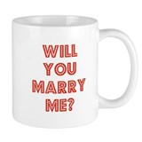 Retro - Will you marry me? Small Mug