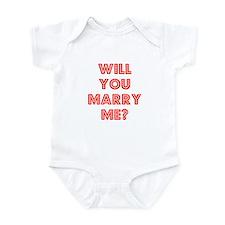 Retro - Will you marry me? Infant Bodysuit