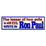 Write in Ron Paul Bumper Bumper Sticker