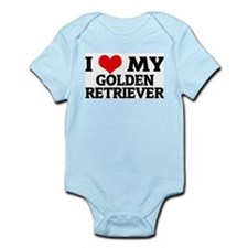 I Love My Golden Retriever Infant Creeper