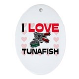 I Love Tunafish Oval Ornament
