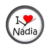 Funny Nadia Wall Clock