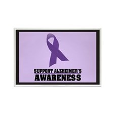 Alzheimers Awareness Rectangle Magnet (100 pack)