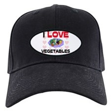I Love Vegetables Baseball Hat