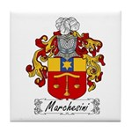 Marchesini Family Crest Tile Coaster