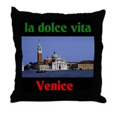 la dolce vita Venice Throw Pillow