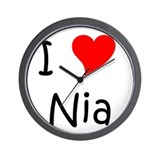 Cool Nia Wall Clock