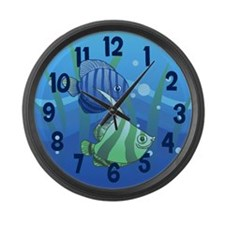 Tropical Paradise Fish Large Wall Clock